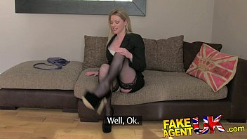 Mature women desire - Fakeagentuk stocking clad posh milf willing to try it all on the casting couch