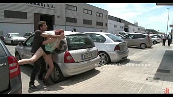 Bitch humiliated in public on the streets and fucked in rough fetish sex