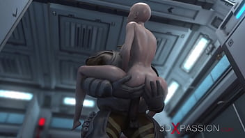 3dxpassion.com. Sci-fi. Alien monster fucks a young woman in the Mars base camp