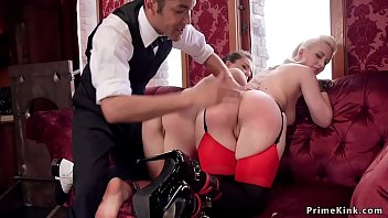 Head slave learns babe to bdsm fuck