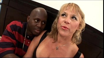 Hot black mom sex videos Hot blonde amateur milf with nice tits banging black cock in mom sex video