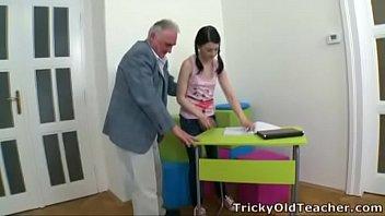 Tricky Old Teacher - Olga is a good student Image