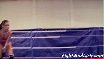 Nude ring wrestling - Bigbooty euro lesbo fingered after wrestling