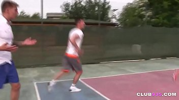 Cute Asian Teen Fucked by Two Tennis Players