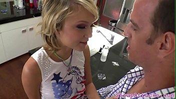 Dominating babe enjoys pegging her bf