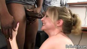 Sweeet interracial wife Lya pink interracial and facial in front of husband