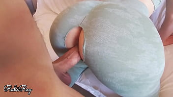 Teasing My Horny Ex Boyfriend While Training To Fuck n Creampie Me Deep 11 min