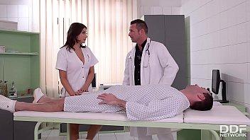 Stunning Nurse Anna Polina gets DP'ed after Anal Sex