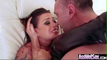 Oil based latex - Anal hardcore bang with big ass horny girl eva angelina video-15