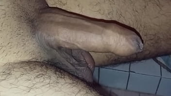 Hairless erect twinks - No hands erection dick control