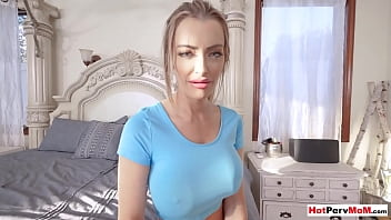 Careful MILF mom empties her stepsons saturated balls