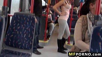 Fucking a teen on public bus Bonnie Shaiww 1