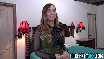 Sleeping redhead Propertysex - real estate agent busted playing with herself
