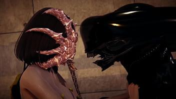 Alien - Girl fucked by a Xenomorph - 3D Porn
