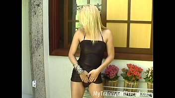 Sexy naked transexuals Hot blond tranny dances and toys her ass