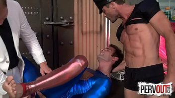 Cameron force gay video - Superman double teamed lance hart, cameron kincade, alex adams