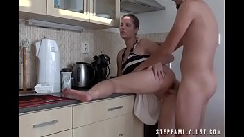 Hottest amature milfs on the web Naughty step mom fucks step son in the kitchen
