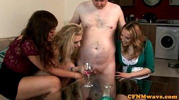 CFNM voyeur make his cock cum