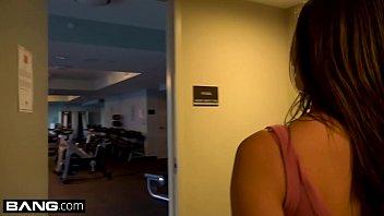 Teen Ashley Adams fucks in a public gym image