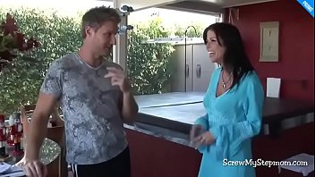 Son fucks stepmom while no one is home