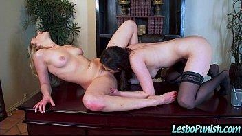 Lesbians Girl (casey mia) In Punish Sex Scene Using Dildos clip-17