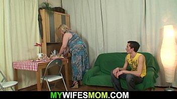 Lads fuck grannies Slim lad fucks her huge girlfriends mother