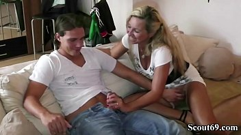 German Amateur MILF Bi-Jenny Teach Young Teen Guy How to Fuck right