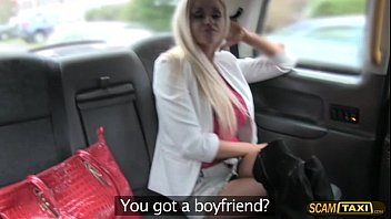 Super Hot Blonde Lady Have Sex In The Taxi And Gains Facial
