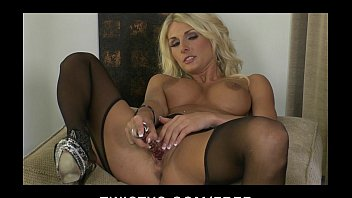 Secret adult videos - Hot blond milf alicia secrets teases masturbates in stockings