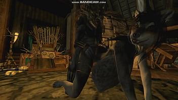 [Skyrim] Nuria, princess of the M'kor Tribe, offers herself to the Rieklings (Part 1)