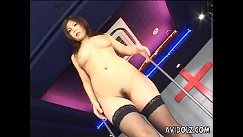 Japanese nude numphet Japanese pole dancer pleases herself