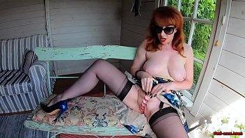 Naughty xxx - Naughty mature red xxx plays with her new glass dildo