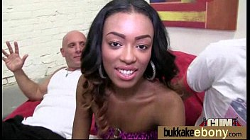 Naughty black wife gang banged by white friends 28