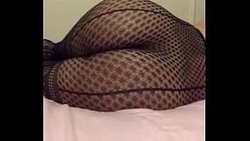 Sexy bubble butt nafida in her fishnet Lingerie