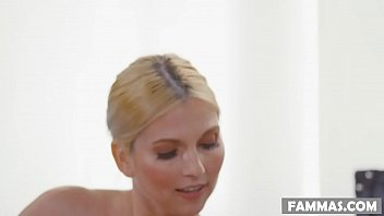 Mom and daughter practices kinky massage - Christie Stevens, Jillian Janson