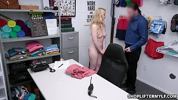 Gorgeous MILF thief Sunny Lane was caught hiding something in her undies and got fucked and interrogated by a horny cop.