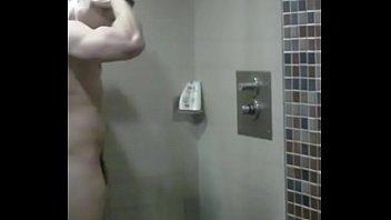 Hot muscle German in shower