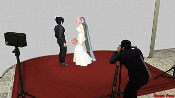 16043 La Boda de Sakura Parte 1 Naruto Hentai Netorare Esposa Vestida de Novia Engañada Marido Cornudo Anime preview