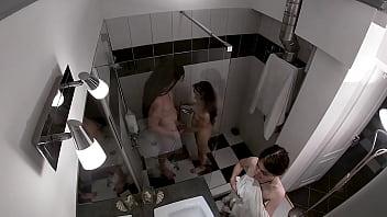 HIDDEN CAM - Threesome Shower