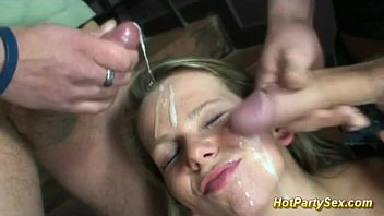 Rough tranny gangbang