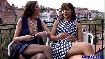 British Les Milf Fisted By Ebony Beauty