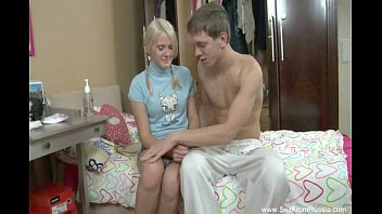 Blonde Russian Teen Begs For Anal