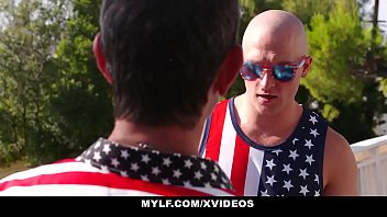 American flag bikini Mylf - stepson gets fucked by horny mylf on july 4