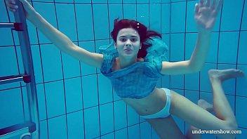 Nudist girl shower Flying panties underwater of marusia