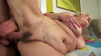 Big pussy grannies - Grannys hair pussy covered with cum