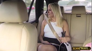 Blonde passenger Lucy adores outdoor sex with cab driver pornhub video