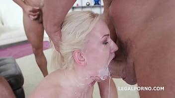 Blonde Cock slave Bree Haze complete submission,rough Anal DAP
