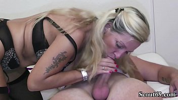 German MILF help Young Boy to lost Virgin with First Fuck