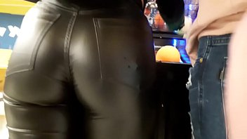 CANDID TEEN IN TIGHT GLOSSY LEATHER PANTS