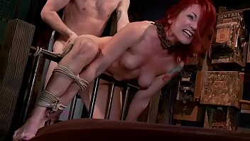 Self bondage lock box with timer Redhead pawg sophia locke is doggyfucked hard in rope bondage